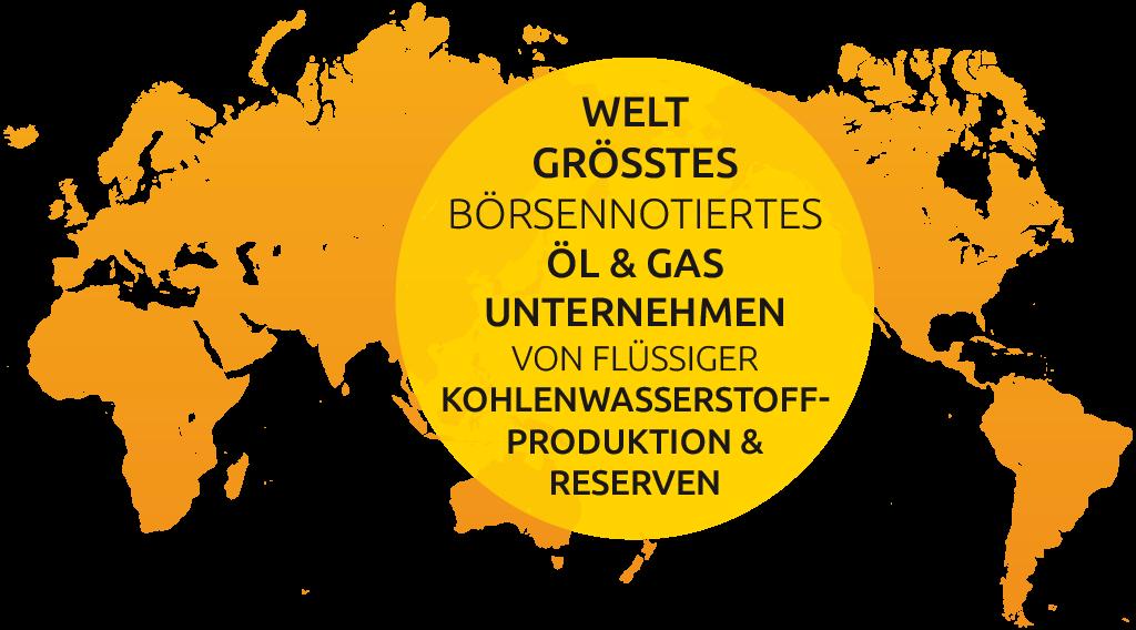 Weltweit größtes börsennotiertes Öl- und Gasunternehmen von flüssiger Kohlenwasserstoffproduktion und Reserven