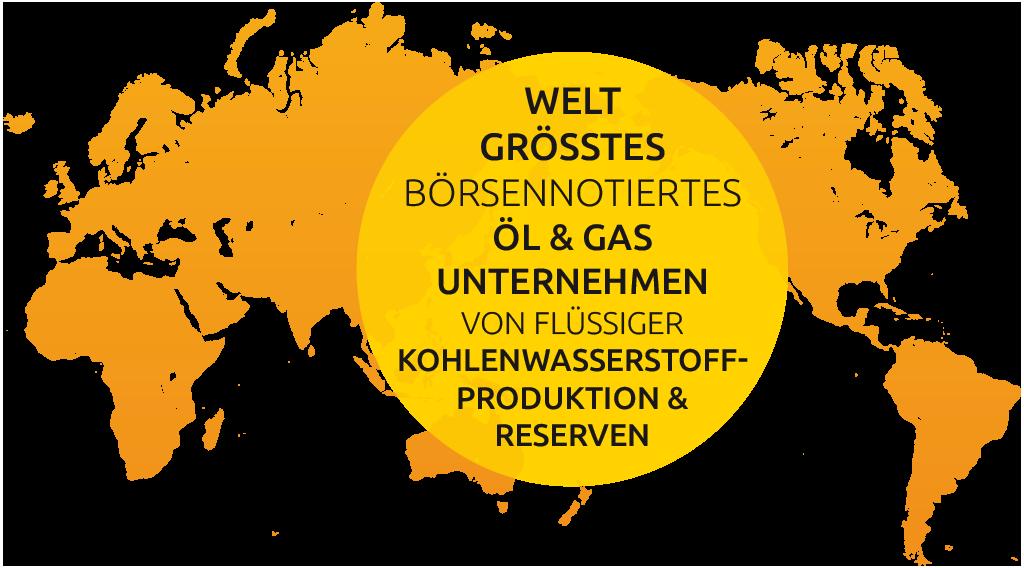 Weltweit größtes börsennotiertes Öl und Gasunternehmen von flüssiger Kohlenwasserstoffproduktion & Reserven