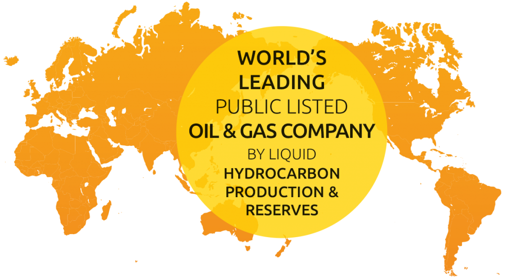 World's largest public listed oil & gas company by liquid hydrocarbon production & reserves
